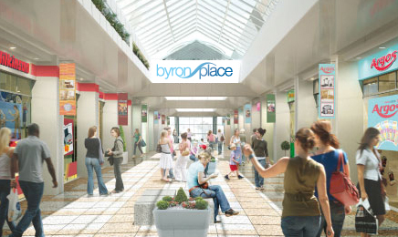 Byron place shopping centre
